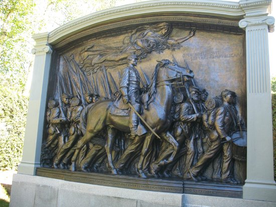 Cornish, NH: Shaw Memorial, monument to the Civil War service of African American volunteers in Boston.
