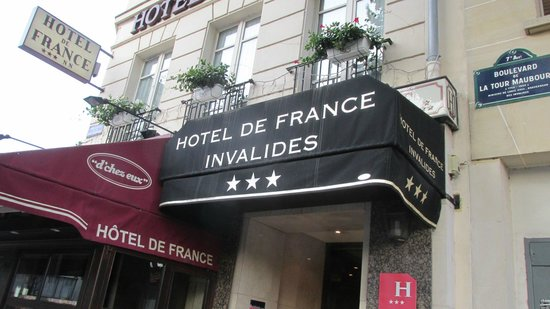 Hotel de France Invalides : entrance