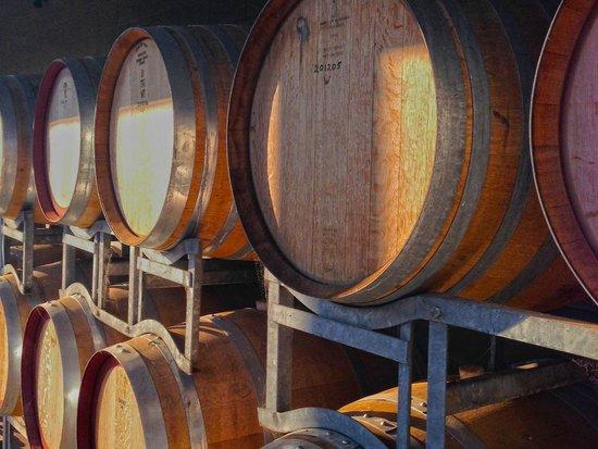 Delatite Wines: Delatite Wine barrels