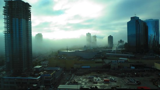 Hilton Vancouver Metrotown: Looking SE from room 1706