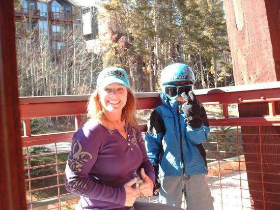 Valdoro Mountain Lodge: balcony overlooking Breck