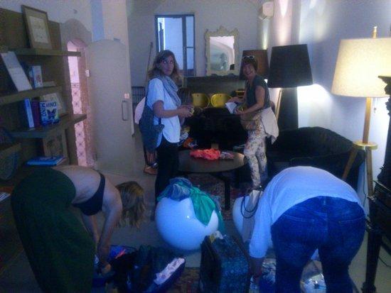 Lavra GuestHouse : Llegamos muy pronto y dejamos maletas y nos cambiamos