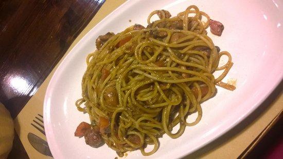 Osteria ai 4 Feri: spaghetti con moscardini