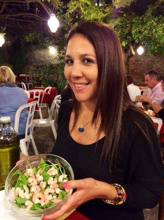 Al Nono Risorto: Rúcula con camarones