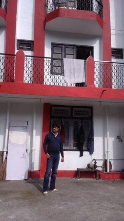 terrace of hotel Himgiri
