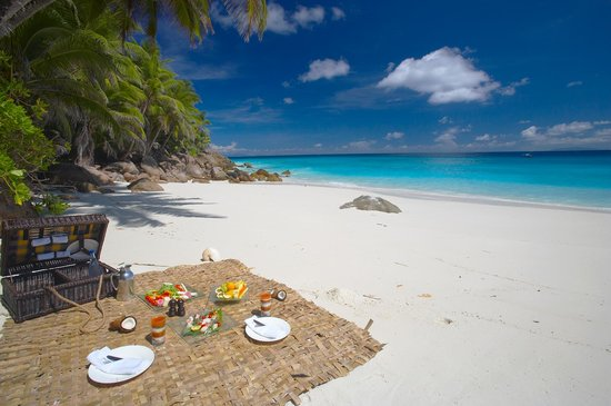 Fregate Island, Seychelles: Lunch at the beach