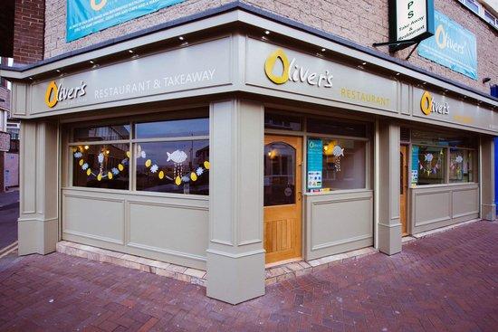 Oliver's Fish & Chips: Oliver's New shop frontage