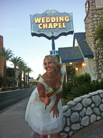 A Storybook Wedding Chapel : My beautiful wife, Mrs Mirfin outside the Chapel
