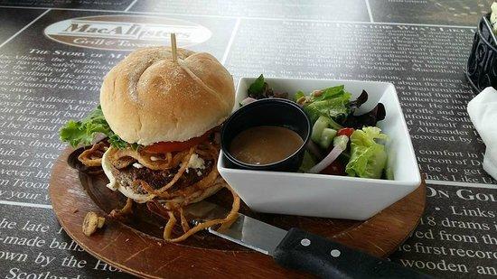 MacAllisters Grill & Tavern: Lamb Burger with salad