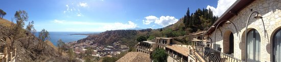 Luxury Residence Taormina: View from balcony