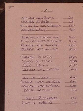Caffescondido : Menuekarte 2.10.2014