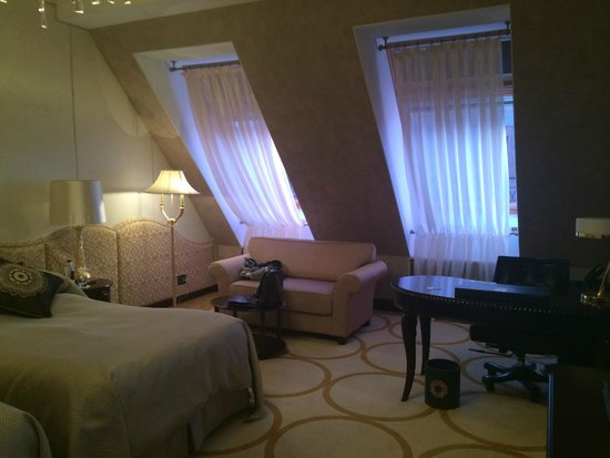The St. Regis Moscow Nikolskaya: the room had a large seated area with work desk and sofa