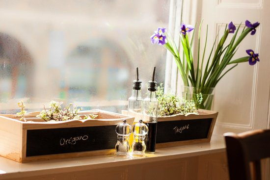Sydney's Bistro: Home grown herbs for cooking with