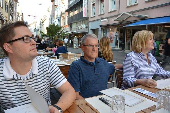 Piadina-Bar Margherita: Outside dining on Steinenvorstadt.
