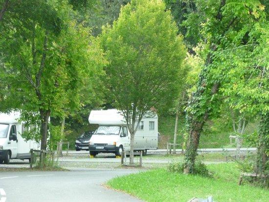 Sainte-Engrace, Francia: Parking camping car