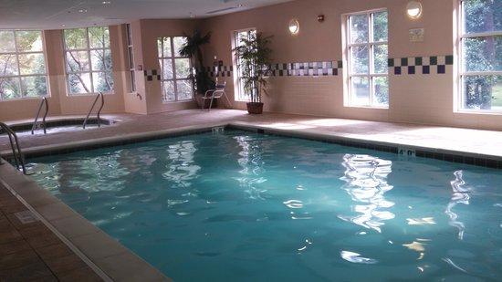 very clean indoor pool picture of hampton inn suites. Black Bedroom Furniture Sets. Home Design Ideas