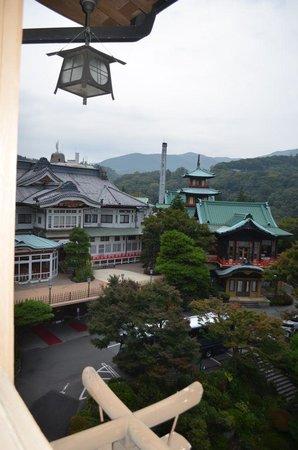 Fujiya Hotel: 花御殿からの景観。