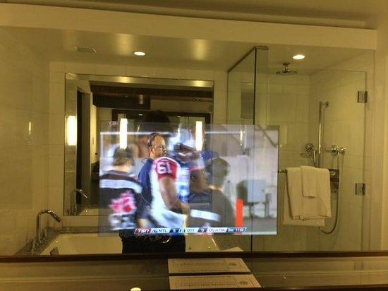 Fairmont Pacific Rim Tv Inside The Bathroom Mirror