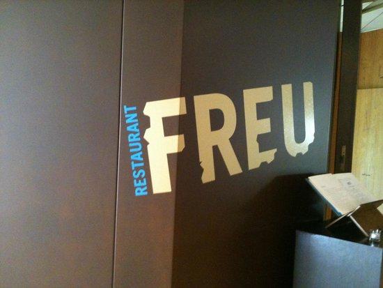 FREU Restaurant: Entrée du restaurant