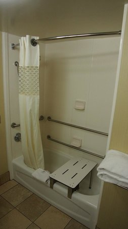 Hampton Inn Fishkill: Bathtub (handicap access)