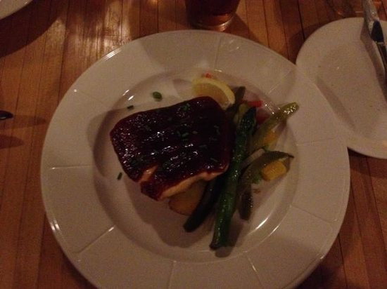 Signatures at the Humphrey House: Glazed salmon