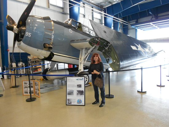 Liberty Aviation Museum: Flyable Grumman Avenger and the best wife ever. One of two (planes not wives)