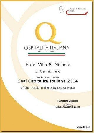 Hotel Villa San Michele: Ospitalità Italiana 2014