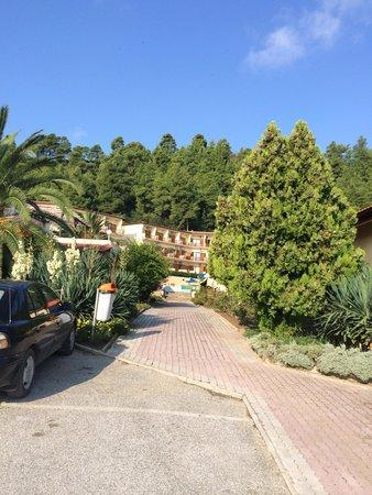 Palladium Hotel: Weg Richtung Bar und Zimmer