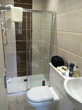 Inverlea Guest House: Große Dusche, etwas enger auf der Toilette