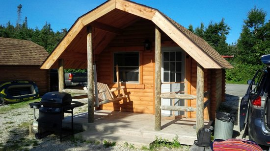 Gros Morne/Norris Point KOA: Lakeside view of Cabin