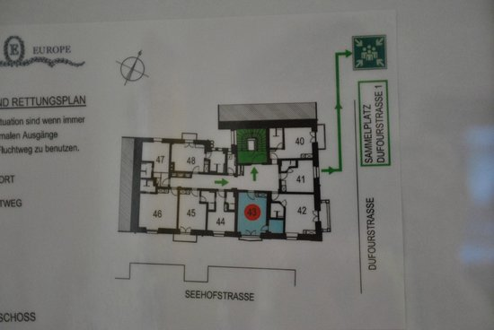 Romantik Hotel Europe: Floor 4 Floor Plan #43