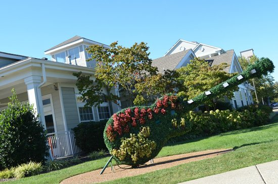 Wyndham Nashville : Topiary Guitar in front of the office