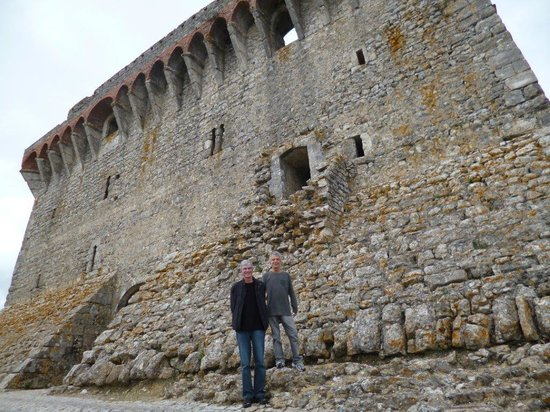 "Ourem, Portugal: The impressive walls of ""Castelo de Ourém"" in Portugal"