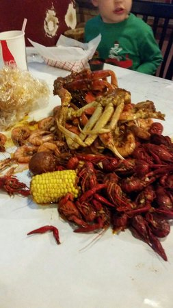 The Yabby Hut: Our feast!