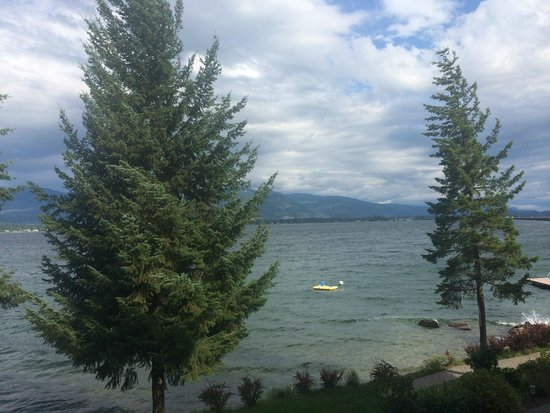 The Lodge at Sandpoint: The view from our private balcony.