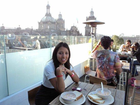 Hostel Mundo Joven Catedral: En la terraza