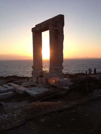 Naxos by, Hellas: Solnedgång!