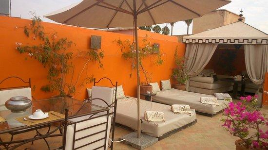 Riad Hermes : terrasse