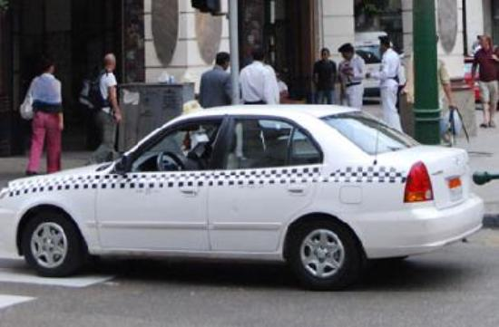 New  White Taxi in Cairo