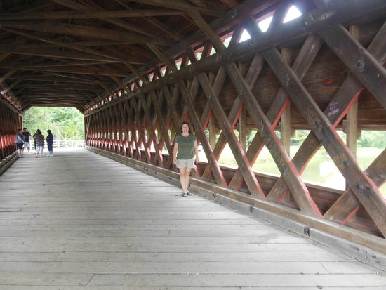 Sachs Covered Bridge: inside view