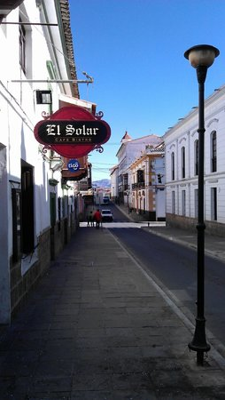 El Solar Cafe Bistro: From the street