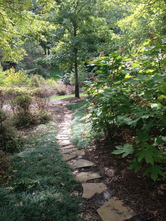 The Umstead Hotel and Spa: Path from the Spa toward Outside Yoga