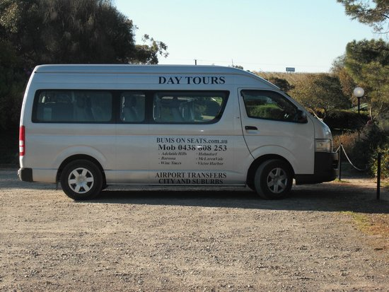 Bums On Seats Day Tours: Our tour bus at McLaren Vale