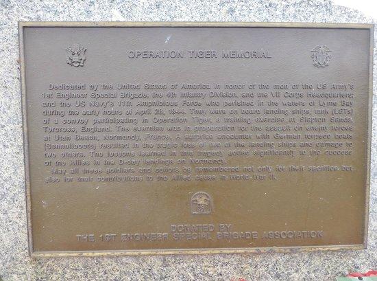 Slapton Sands: Operation Tiger Memorial