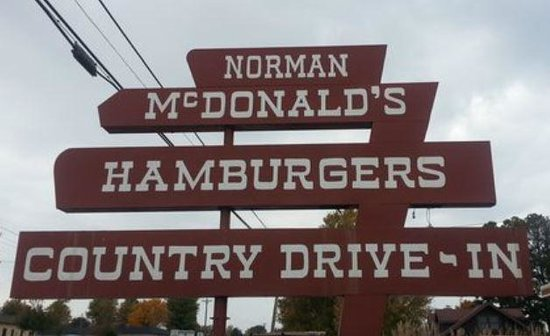 Norman McDonalds Country Drive-in