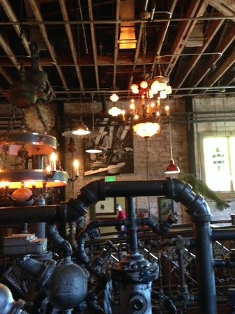 McMenamins Kennedy School: View of the Boiler Room bar/restaruant