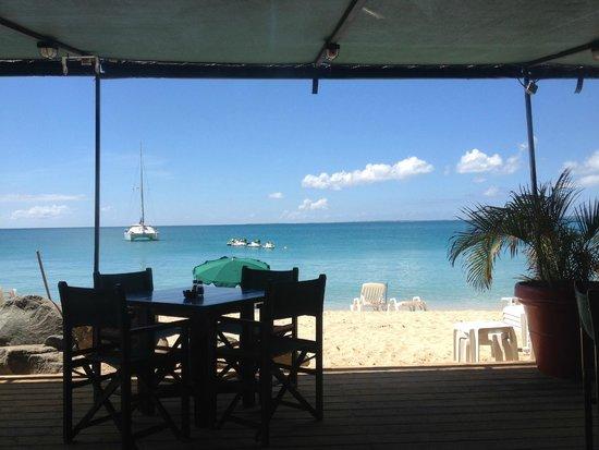 Friars Bay Beach Cafe: la vue