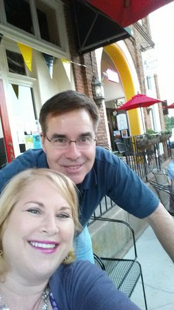 Risto's Place Food & Spirits: Enjoying our outside dining at Risto's  Place in Statesville,NC