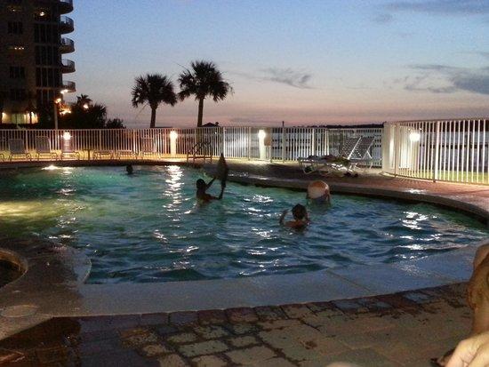 Bel Sole Condominiums: Pool at night
