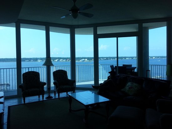 Bel Sole Condominiums: View of the Lagoon out the back windows